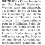 Offenbach Post 15. Januar ´15
